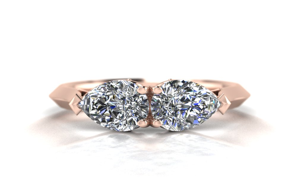 G&O Double Pear Engagement C
