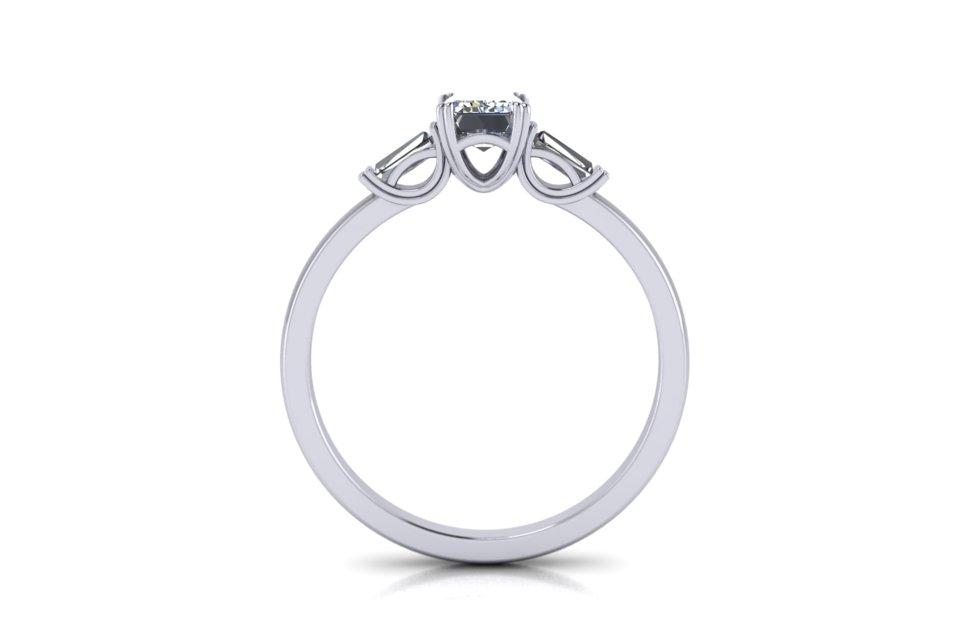 G&O Emerald Art Deco Engagement B