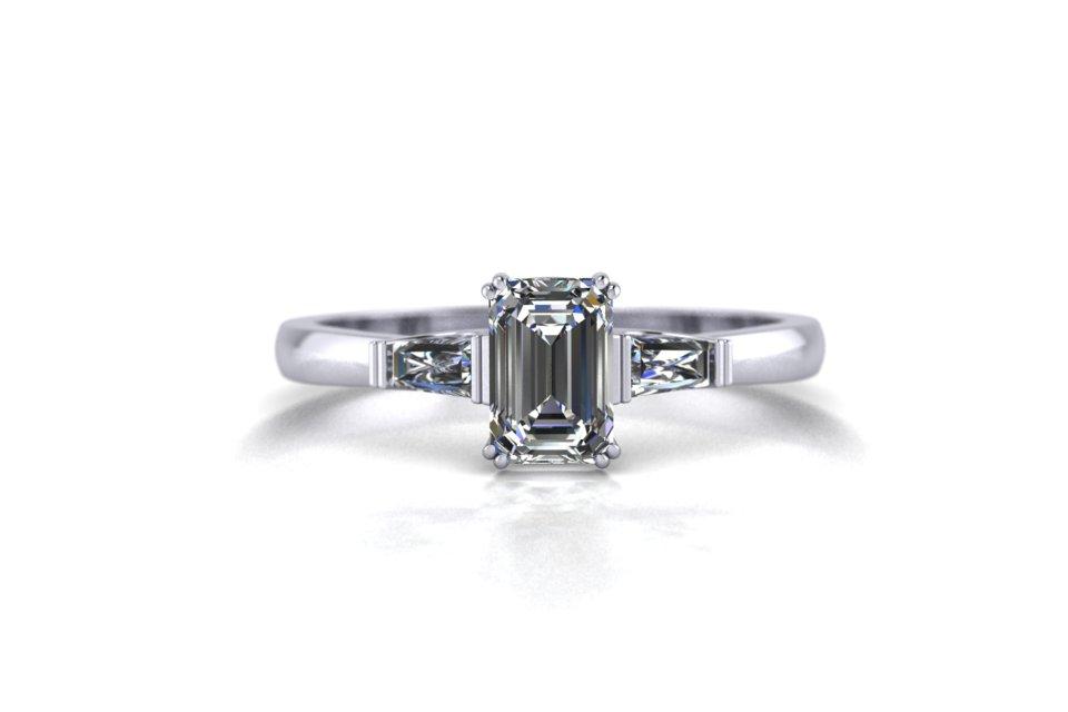 G&O Emerald Art Deco Engagement C