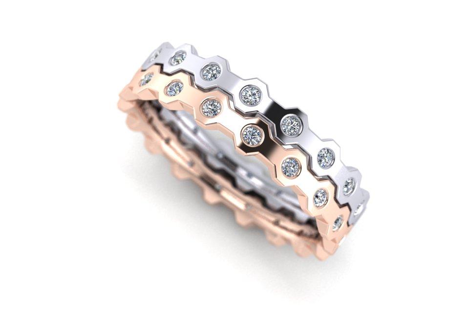 G&O Hexagon Diamond Flat D