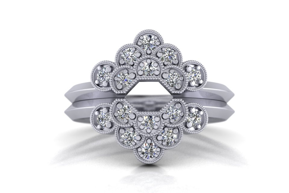 G&O Octagon Floral Wedding and Eternity C