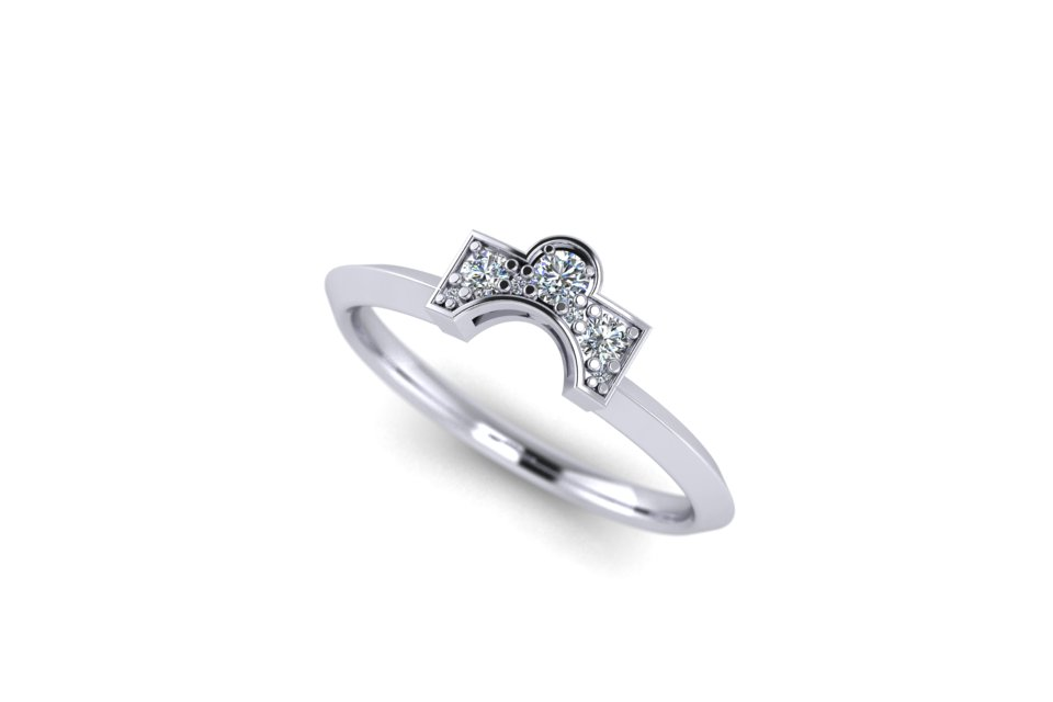 G&O Round Art Deco Wedding and Eternity - £1335 in 18ct WG